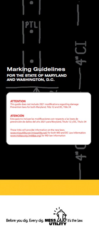 Image of the Miss Utility Marking Guidelines -English